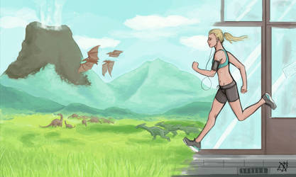 Running Past Time by Ixopyxos