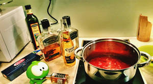 Spaghetti Pasta sauce with Jack Daniels by idlebg