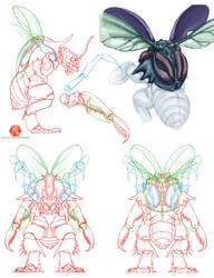 Insectoid Turnaround by DSil