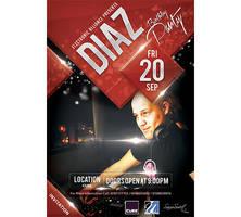 Dj Diaz Birthday Party Flyer/Poster by SamoSoviet