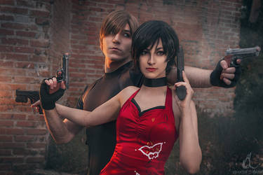 Leon Kennedy and Ada Wong I - Resident Evil 4 by Shirokii