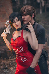 Leon Kennedy and Ada Wong II - Resident Evil 4 by Shirokii