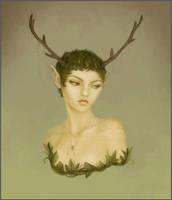 Deer Girl by jezebel