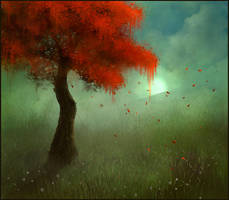 Sketchpaint Crimson Tree by jezebel