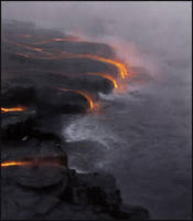 Sketchpaint Lava Meets Ocean by jezebel