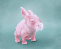 Ugly Cute Bunny Sketchpaint by jezebel
