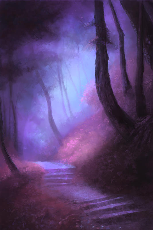 Moody Forest Path by jezebel