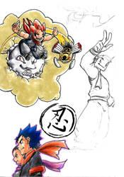 ! Color Sketches - Shinobi by Dreballin3x