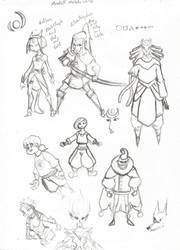 ! Character Sketches by Dreballin3x