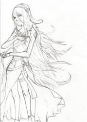 ! Azura - Lineart by Dreballin3x