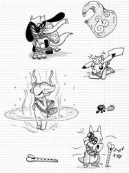 Some other pokemons art by Mikes118