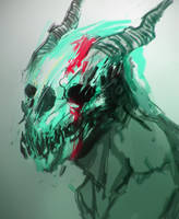 demon thing by scrawlac