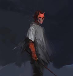Red Mask by scrawlac