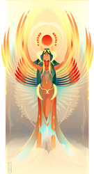 Isis ~ Egyptian Gods by Yliade