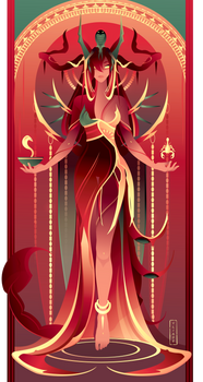 Serqet ~ Egyptian Gods by Yliade