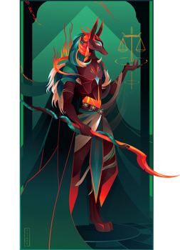 Anubis II ~ Egyptian Gods by Yliade