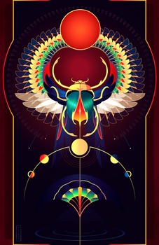 Khepri ~ Egyptian Gods by Yliade