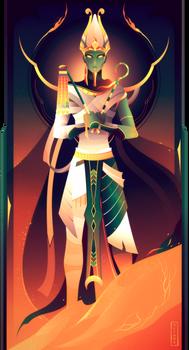 Osiris ~ Egyptian Gods by Yliade