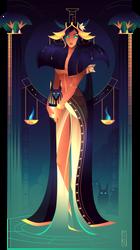Nephthys ~ Egyptian Gods by Yliade