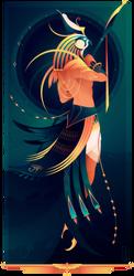 Horus ~ Egyptian Gods by Yliade