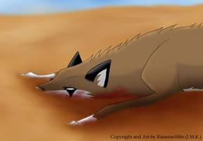 In the sand... by Runenwoelfin-chan