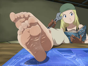 Winry Rockbell Foot Tease [COMMISSION] by Ero-MR