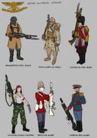 Astra Militarum regiments(thumbnmails) by earltheartist