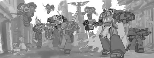 Blood Angels rough draft part 2 by earltheartist