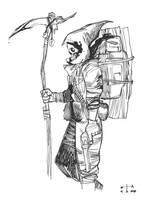 Skull Traveller by earltheartist