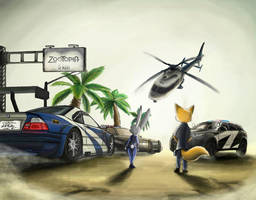Crossover: NfS Most Wanted Zootopia by JudyHopps44