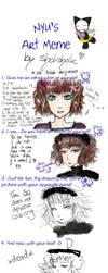 Nyu's Art Meme_shokoholic ver. by shokoholic