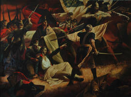 Mortal Wound of General Bogration at Borodino by valentinmelik