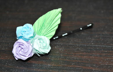 Origami Rose Hairpin by origamiokatu