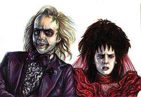 Beetlejuice and Lydia by AshleighPopplewell