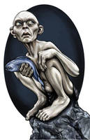 Gollum Illustration by AshleighPopplewell