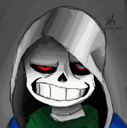 Murder!Sans - Dusttale | + SPEEDPAINT by DaRealNicole
