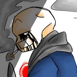 [COMMISSION #1] Killer!Sans by DaRealNicole
