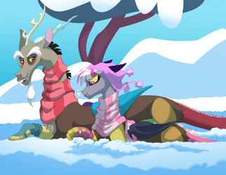 Snow going for draconequii by Lopoddity