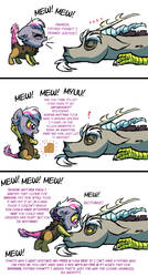 Draconequus baby-talk by Lopoddity