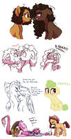 Assorted Pony Doodles by Lopoddity