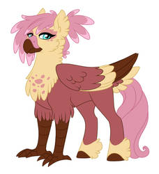 Comm:Gilda x Fluttershy by Lopoddity