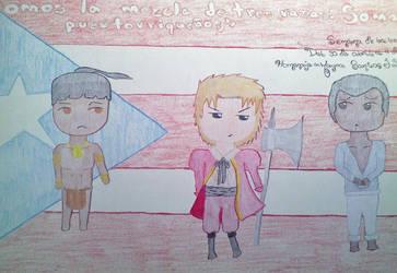 Somos la mezcla de tres razas PUERTO RICO by animeslovers10