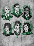 Hogwarts Mystery -  Slytherin sketches by Irrisor-Immortalis