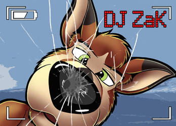 Nose-Up badge: DJ Zak by bigbluefox