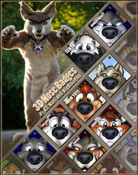 3D Nosebadges - batch 2 by bigbluefox