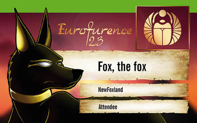 Eurofurence 2017 Badge by bigbluefox