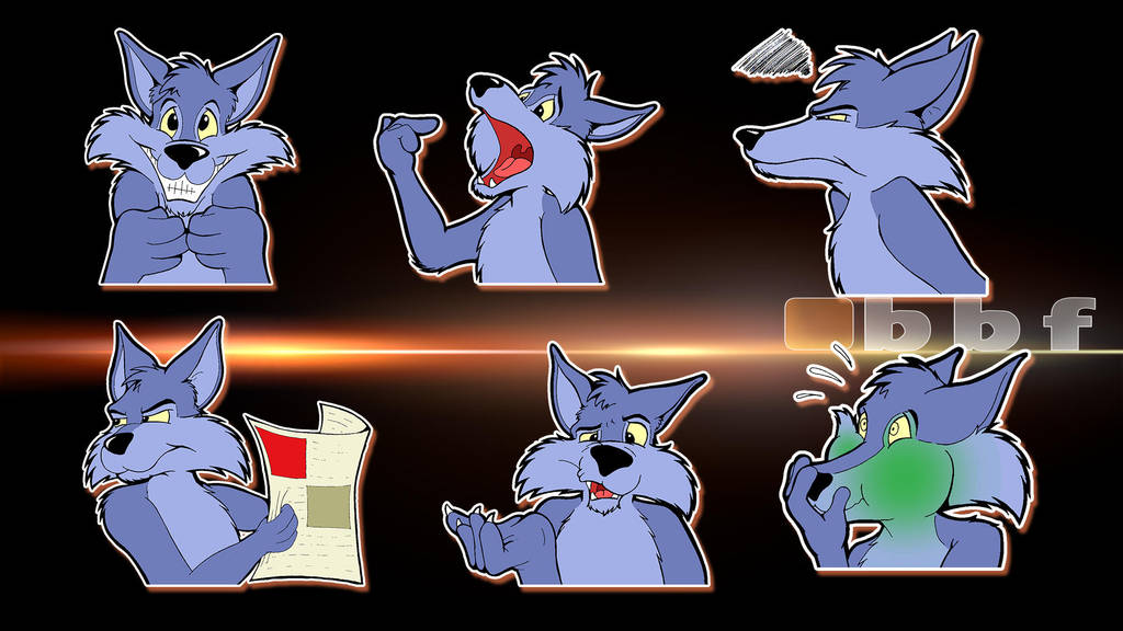 Telegram Sticker Set by bigbluefox