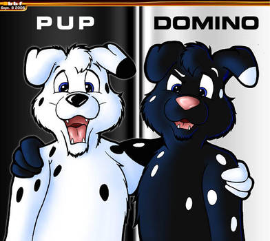 Pup and Domino by bigbluefox