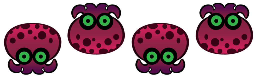 Splatoon Octarian Page Dividers by Rile-Reptile