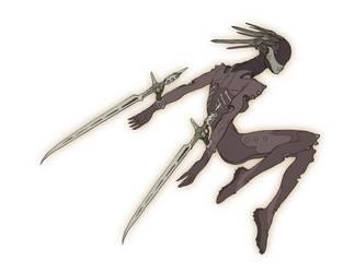 Cyborg Ninja by hughferriss